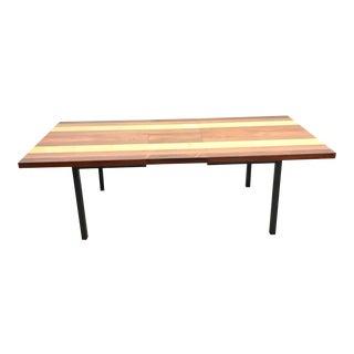 1960s Mid-Century Modern Milo Baughman Multi-Wood Dining Table For Sale