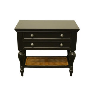 "Hammary Contemporary Modern Black Painted 34"" Two Drawer Nightstand For Sale"