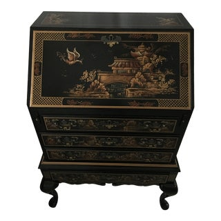 Chinoiserie Maddox Drop Front Secretary Desk For Sale