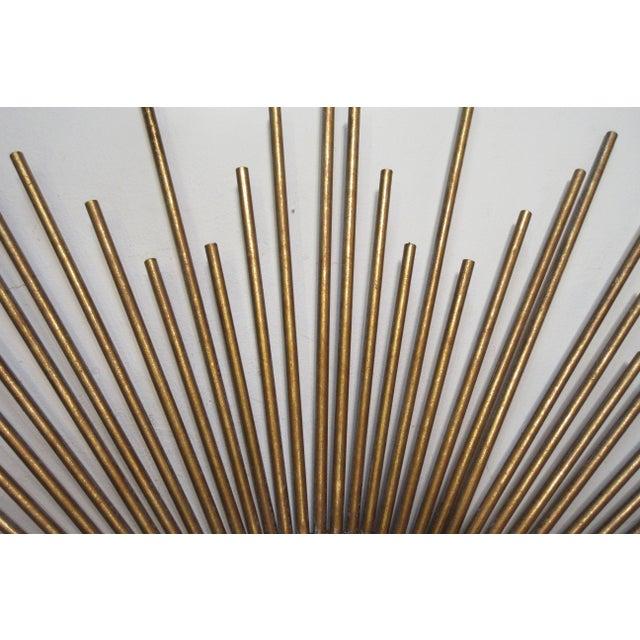 Gold Sunburst Convex Mirror For Sale - Image 8 of 10