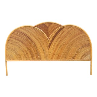 Boho Chic Pencil Reed Queen Headboard For Sale