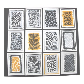 Animal Print Patterns Set of 12 Paintings For Sale