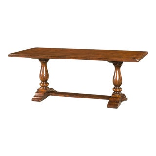 Antiqued Wood Refectory Dining or Kitchen Table For Sale