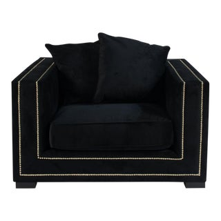 Bridges Black Velvet Chair
