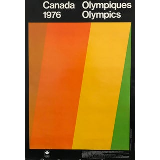 1976 Canada Olympic Poster, Artists-Athletes Coalition - Guido Molinari For Sale