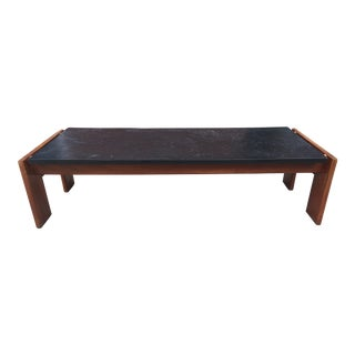 Adrian Pearsall Slate & Walnut Coffee Table For Sale