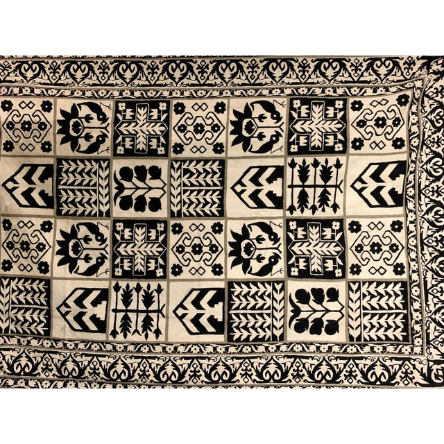 Textile 1970s Vintage Handwoven Rug - 6′ × 8′10″ For Sale - Image 7 of 11