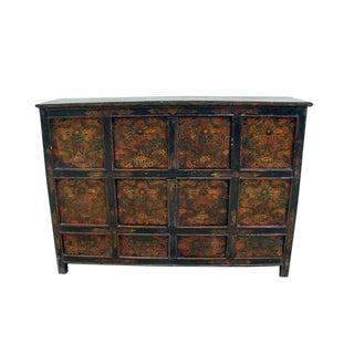 Vintage Chinese Pine Tibetan Cabinet