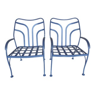 Vintage Woodard Hampton Park Arm Chairs Model - a Pair For Sale