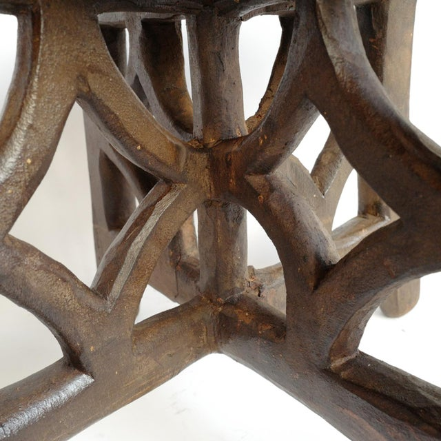 Mid 20th Century Consigned Tanzania Wood Stool For Sale - Image 5 of 7