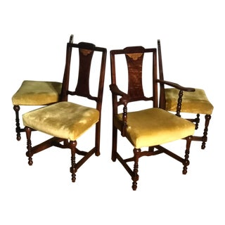 Broyhill Brasilia Golden Yellow Dining Chairs - Set Of For Sale