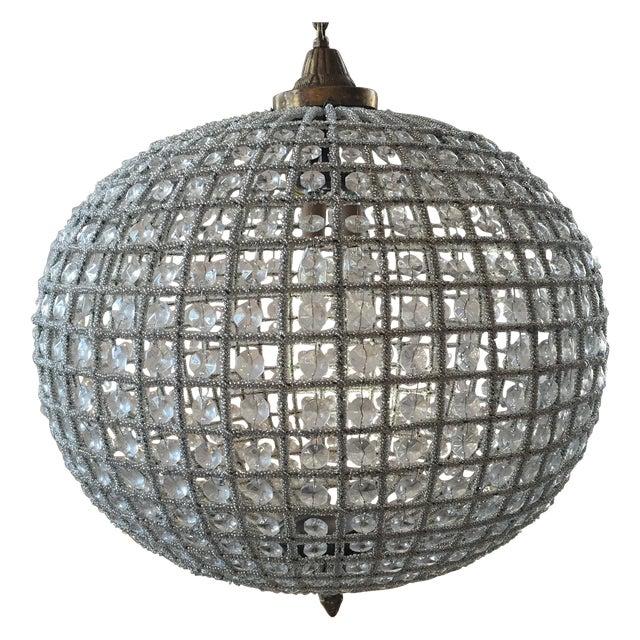 Large Crystal Sphere Chandelier For Sale