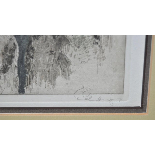 Yosmite Valley Etching by Josef Eidenberger For Sale - Image 7 of 9