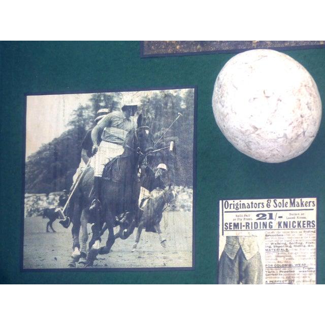 Mid 20th Century Vintage Polo Memorabilia Shadow Box For Sale - Image 5 of 10