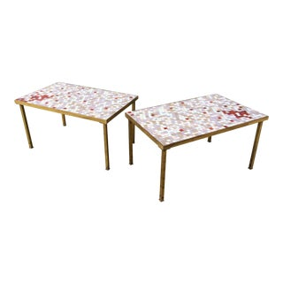 Mid-Century Modern Tile Top Tables - a Pair For Sale