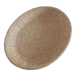 Tozai Home Oval Hyacinth Wicker Tray For Sale