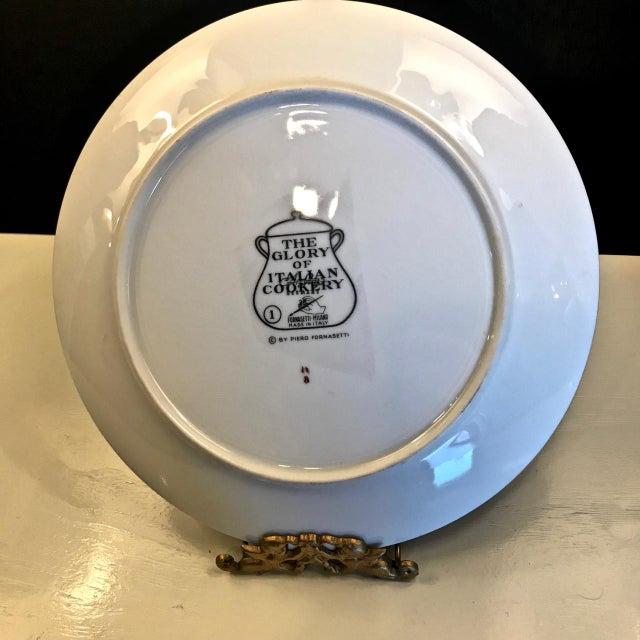 Boho Chic Mid-Century Fornasetti Italian Recipe Plates For Sale - Image 3 of 11