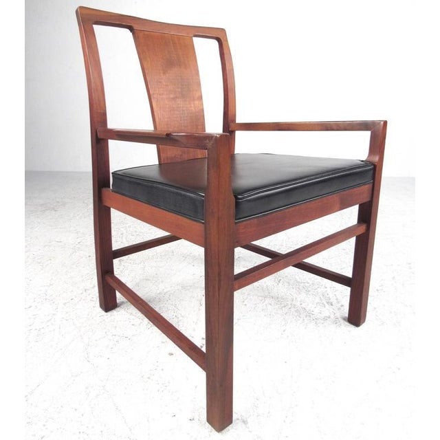 Set Of 6 Dining Chairs: Mid-Century Modern American Walnut Dining Chairs