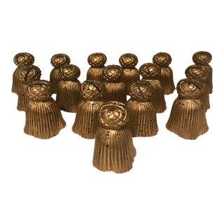 Vintage Gold Tassel Place Card Holders For Sale