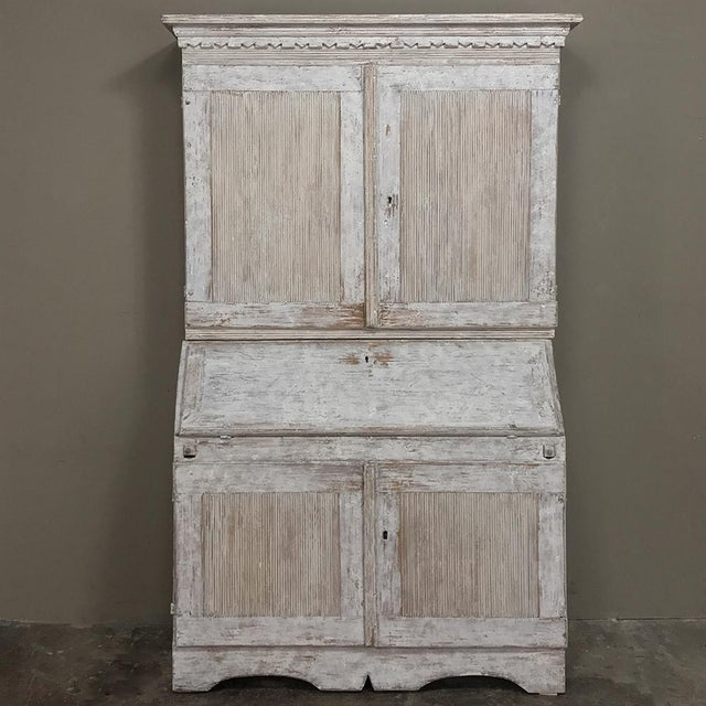 19th Century Swedish Painted Secretary For Sale - Image 13 of 13