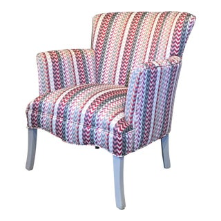 Vintage Mid Century Petite Armchair For Sale