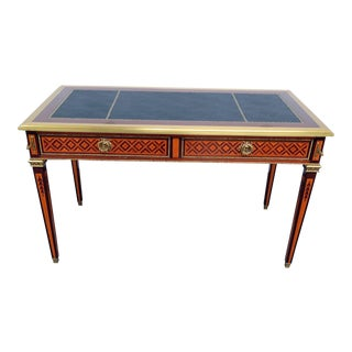 20th Century Regency Leather Top Writing Desk For Sale