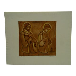 """Signed & Numbered """"Troubadours"""" Print"""
