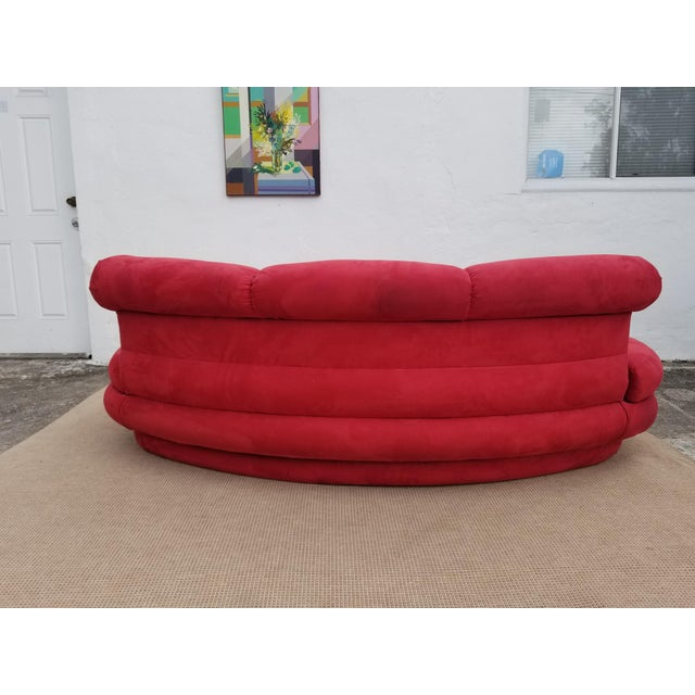 1980s 1980s Mid-Century Modern Adrian Pearsall for Comfort Red Curved Sofa For Sale - Image 5 of 12
