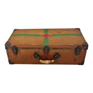 Circa 1940s Military Medical Suitcase w/ Cross For Sale