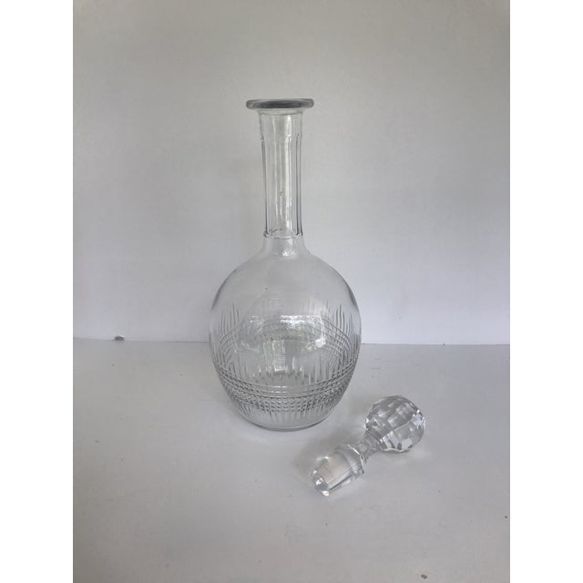 Nothing adds sparkle to your table or bar like the finest in crystal, Baccarat. Elegant Baccarat decanter in the Nancy...