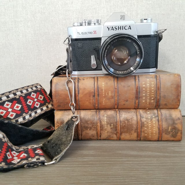 Vintage Yashica Camera with Strap For Sale - Image 4 of 9