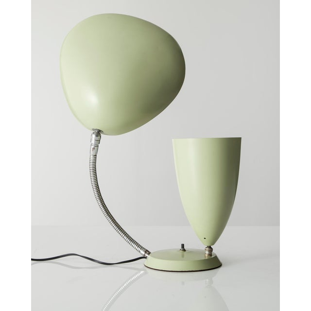 """Table lamp with one cone shade and one """"Cobra"""" shade For Sale - Image 5 of 5"""