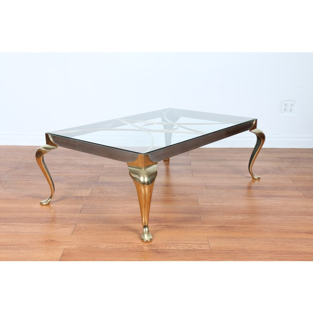 Brass Coffee Table With Glass Top - Image 7 of 10