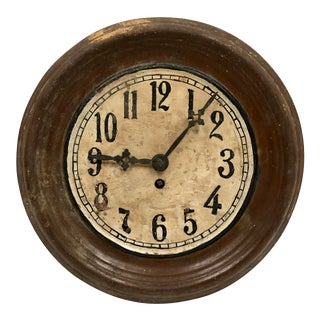 1930s Vintage Hungarian Hand Painted Wall Clock For Sale