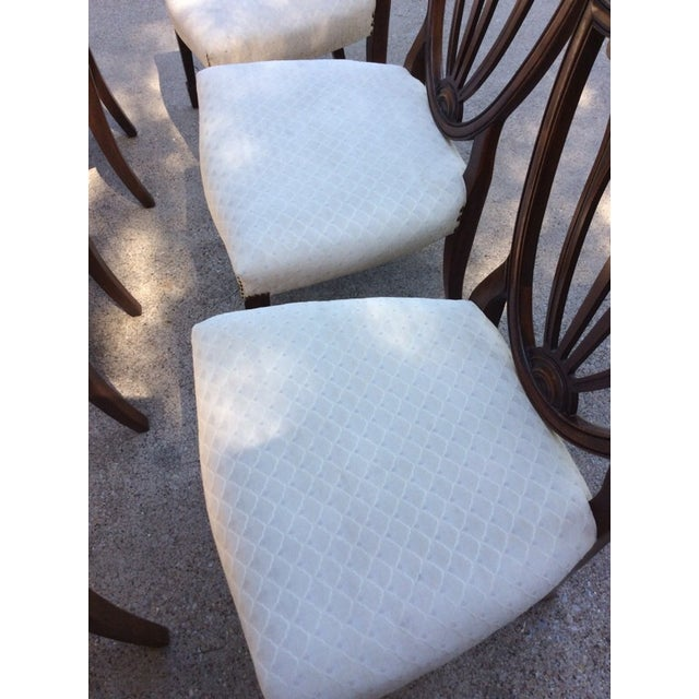 Hepplewhite Mahogany Shield Back Dining Chairs-S/6 - Image 7 of 10