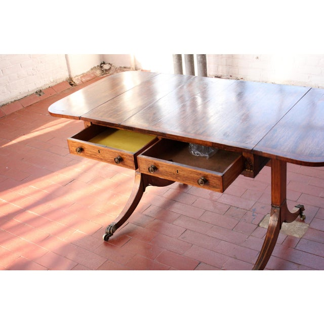 Antique Victorian Rosewood Writer's Desk For Sale - Image 11 of 13