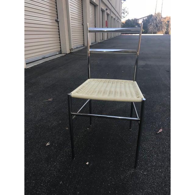 Cassina 1960s Vintage Gio Ponti Chrome Superleggera Chairs - Set of 4 For Sale - Image 4 of 13