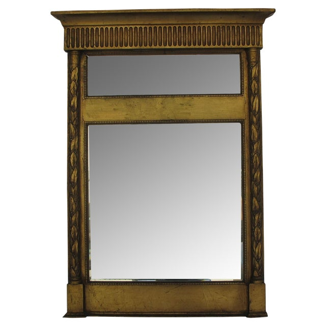 Antique French 19th Century Trumeau Mirror - Image 1 of 4