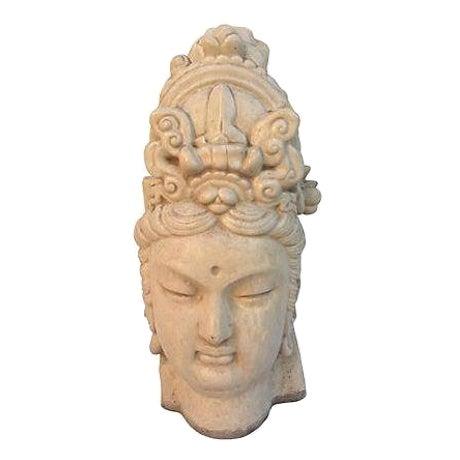 Chinese Ivory Terracotta Buddha Head - Image 1 of 7