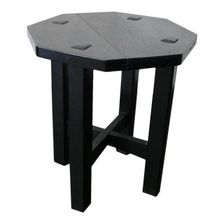 Stickly Brothers Ebonized Wood Side Table For Sale