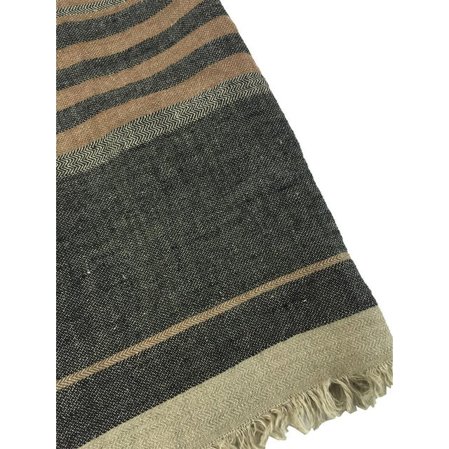 Belgian Black Stripe Towel For Sale - Image 9 of 10
