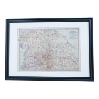 Hand Colored Antique Map of Yorkshire, England For Sale