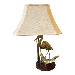 1950s Hollywood Regency Italian Flamingo Brass Table Lamp