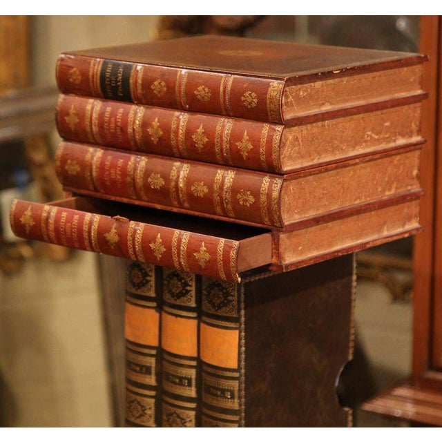 Mid-20th Century French Stacked Book End Table on Wheels For Sale In Dallas - Image 6 of 8