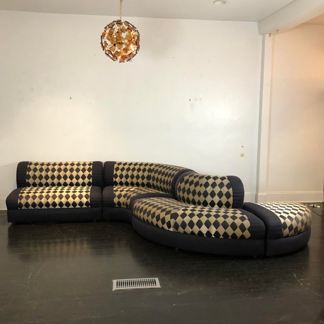 1980s Vladimir Kagan Curved 5 Piece Sofa for Weiman For Sale - Image 13 of 13