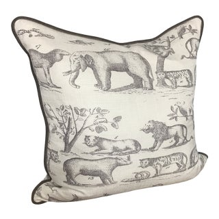 Jungle a Print Down Pillow For Sale