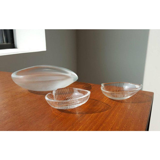 Vintage Scandinavian Tapio Wirkkala Glass Leaf Collection For Sale In Dallas - Image 6 of 7
