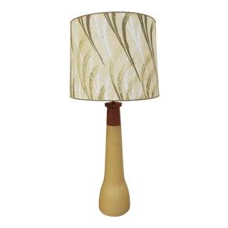 Gordon & Jane Martz Ceramic & Teak Table Lamp For Sale