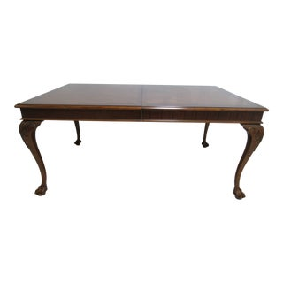 Thomasville Vignettes Chippendale Ball Claw Dining Table For Sale