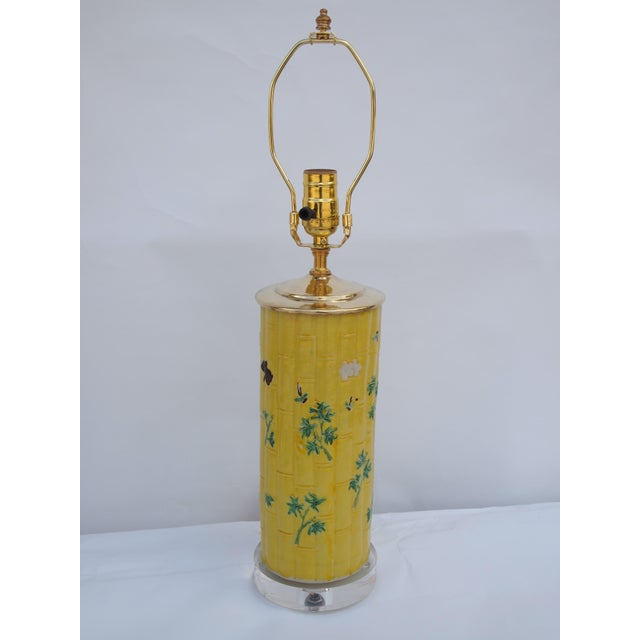 Chinese Bamboo Form Lamp For Sale In Raleigh - Image 6 of 6